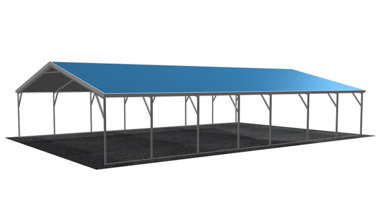 24x36 Vertical Roof Carport