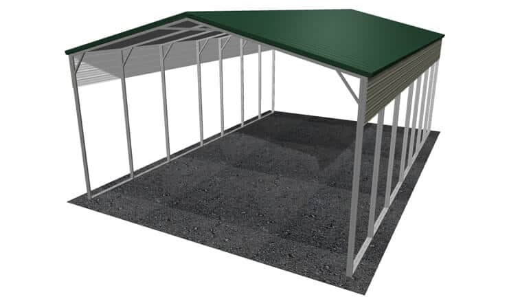 24x36 Vertical Roof RV Cover