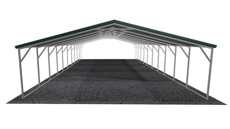 24x51 Vertical Roof Carport
