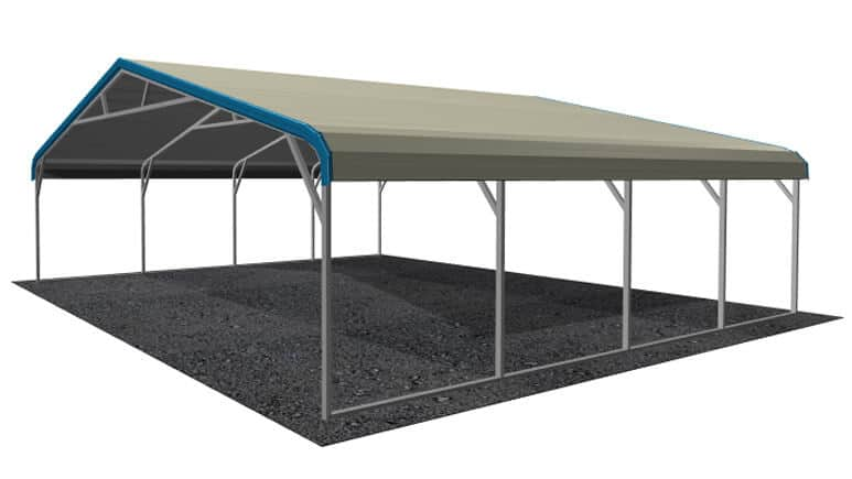 26x21 Regular Roof Carport