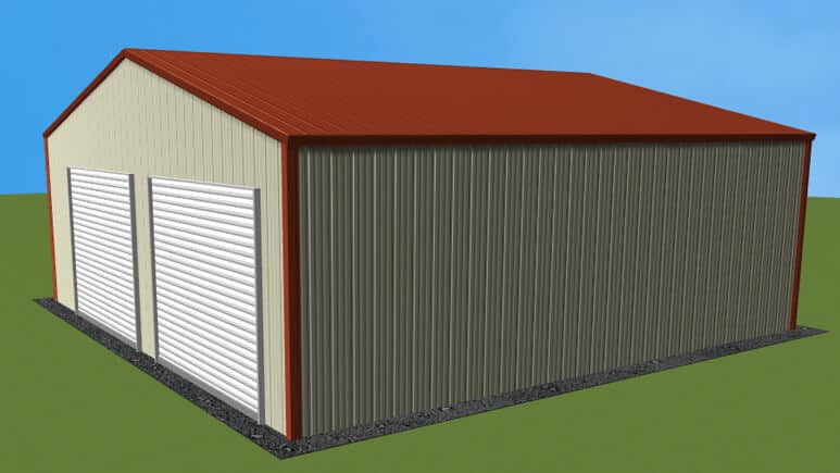 26x26 All Vertical Style Garage