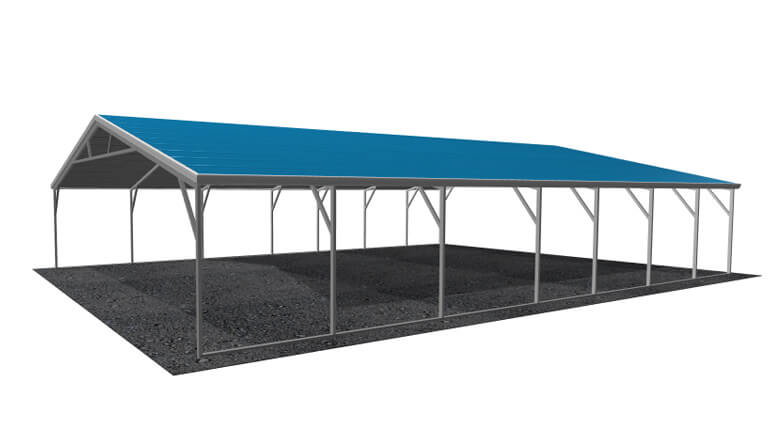 26\' x 36\' A-Frame Metal Carport | Lowest Buy Online Price $4200