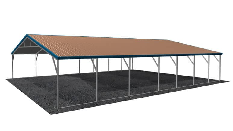 26x36 Vertical Roof Carport