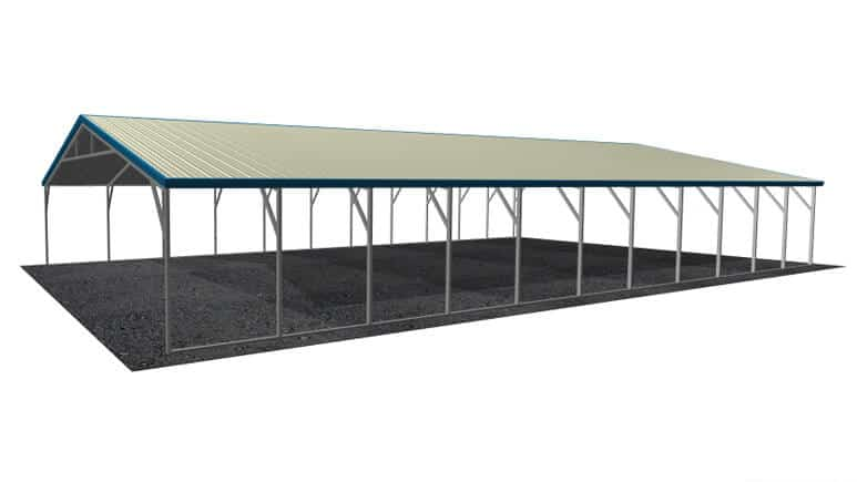 26x46 Vertical Roof Carport