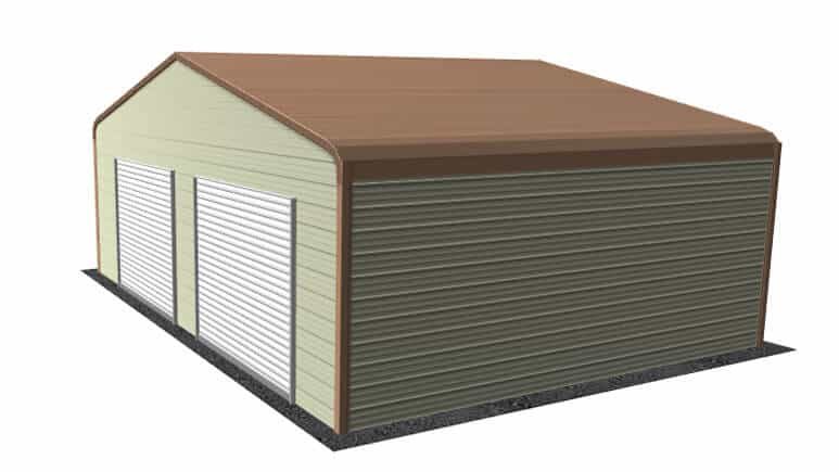 28x21-regular-roof-garage-picture