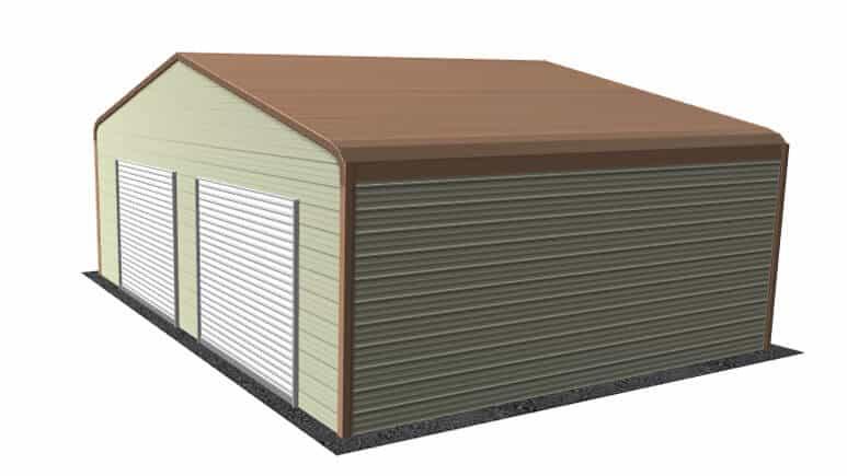 28x21 Regular Roof Garage