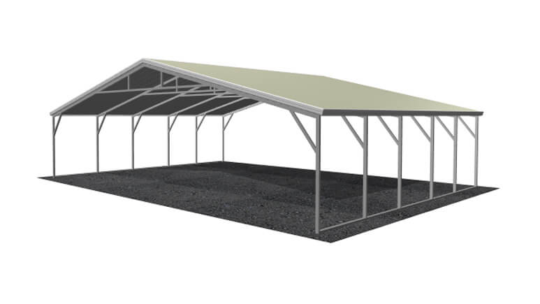 28x21 Vertical Roof Carport