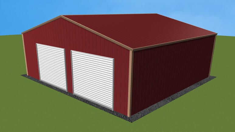28x26 All Vertical Style Garage