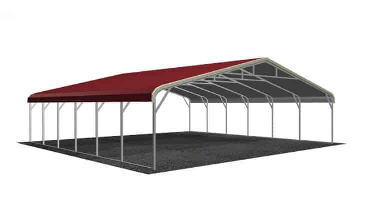 28x26 Regular Roof Carport
