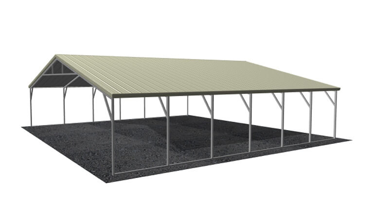 28x26 Vertical Roof Carport