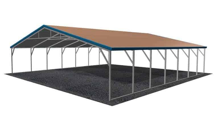 28x31 A-Frame Roof Carport