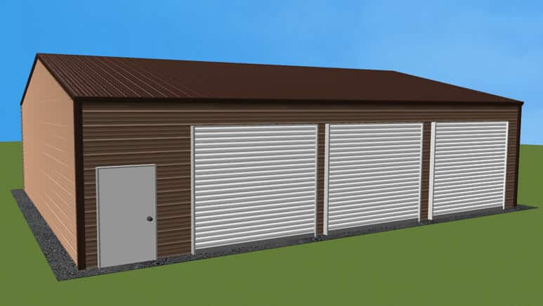28x36 Side Entry Garage