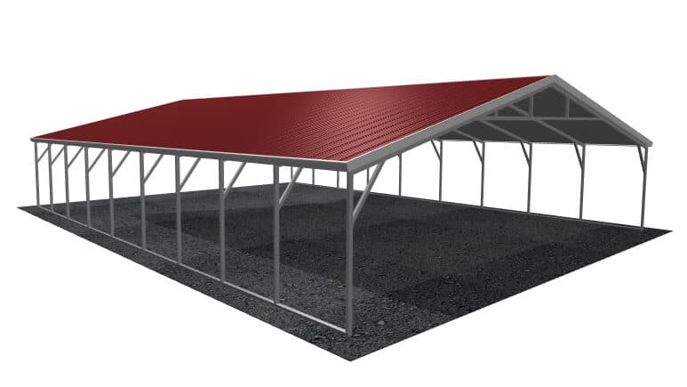 28x36 Vertical Roof Carport