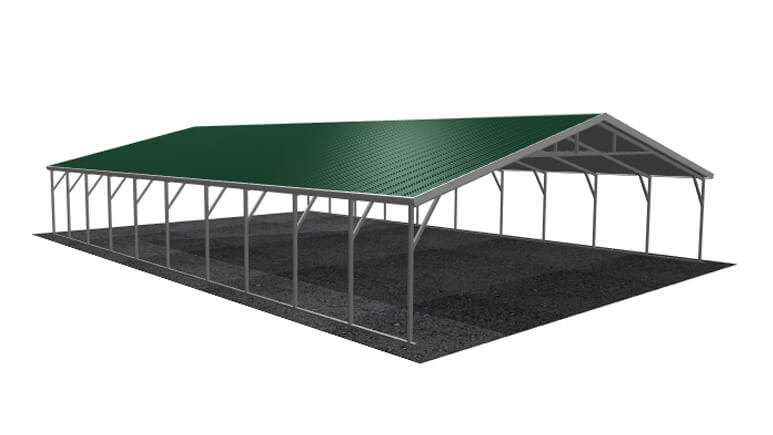 28x41 Vertical Roof Carport