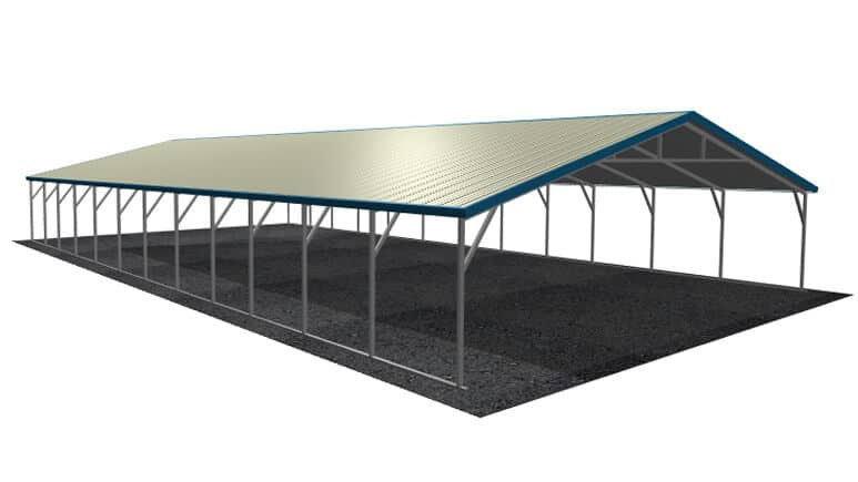 28x51 Vertical Roof Carport