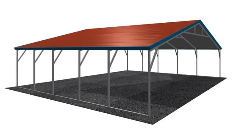 30x21 A-Frame Roof Carport