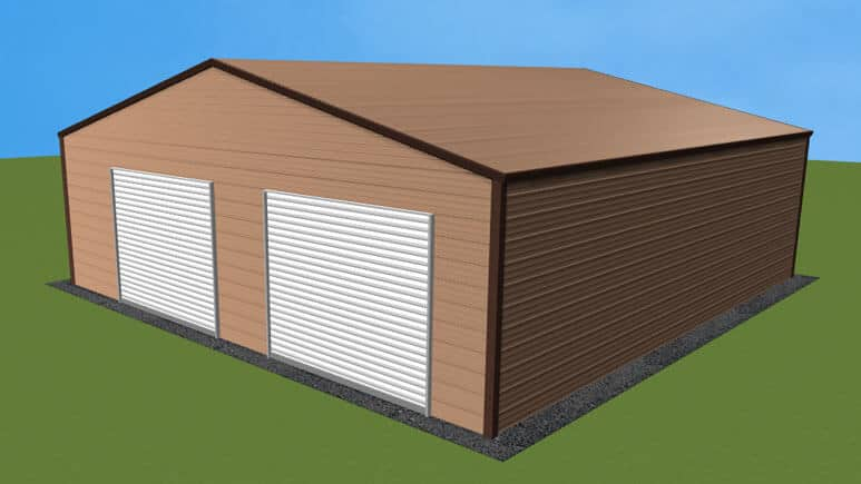 30x31 A-Frame Roof Garage
