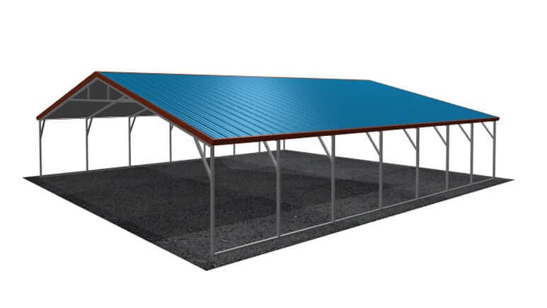 30x31 Vertical Roof Carport