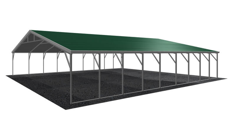 30\' x 36\' A-Frame Metal Carport | Lowest Buy Online Price $4600