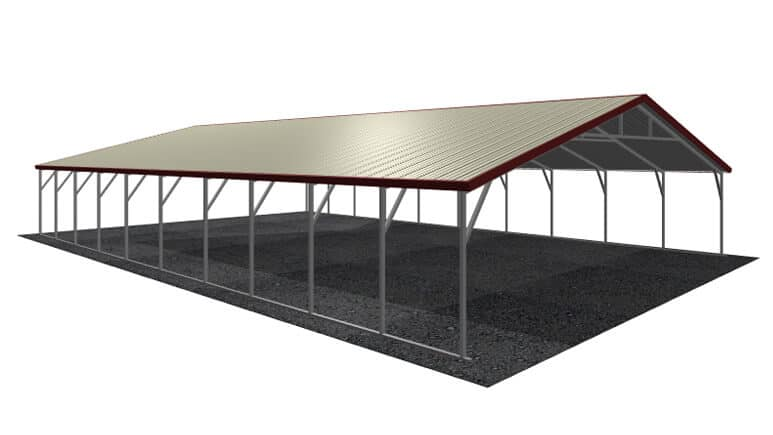 30x41 Vertical Roof Carport