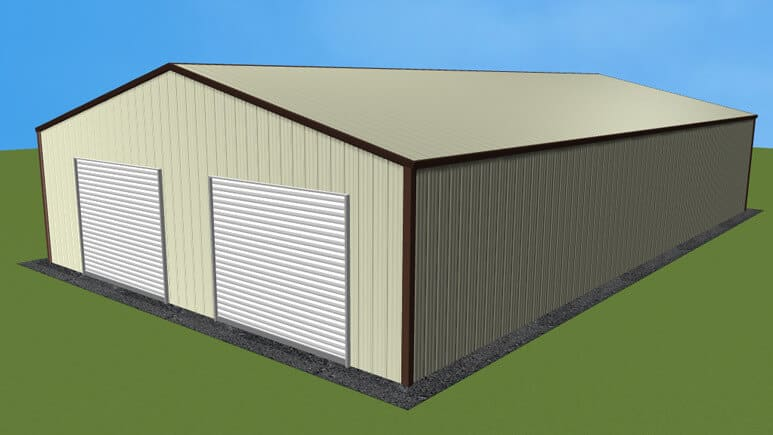 30x51 All Vertical Style Garage