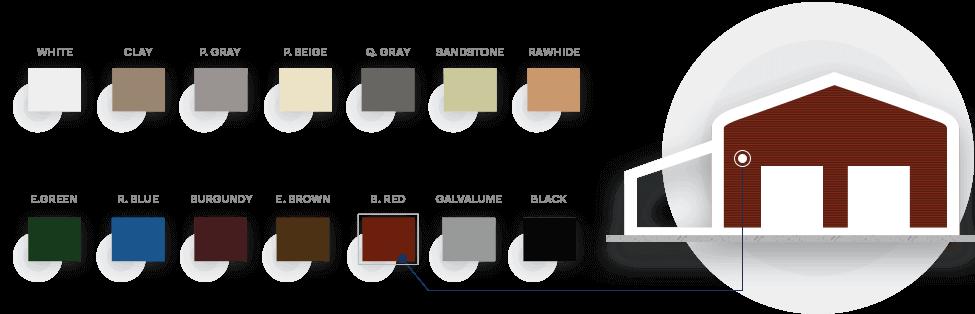18x21 A-Frame Roof Carport Colors