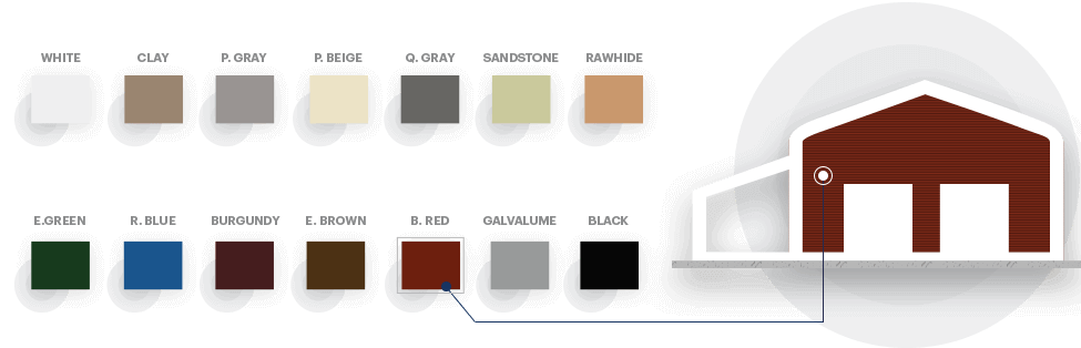 22x21 A-Frame Roof Carport Colors