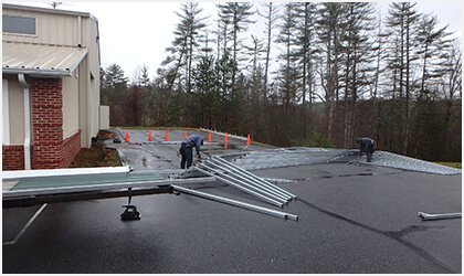 12x21 Vertical Roof Carport Process 1