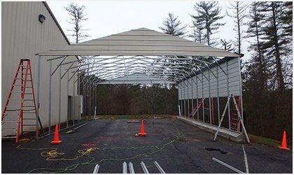 12x26 Vertical Roof Carport Process 2