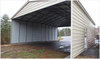 12x26 Vertical Roof Carport Process 3