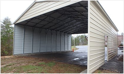 18x51 Vertical Roof Carport Process 3