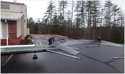 22x26 Vertical Roof Carport Process 1