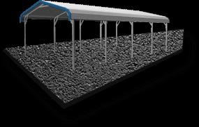 24x26 A-Frame Roof RV Cover Asphalt