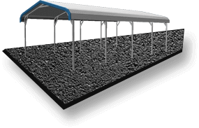 24x36 A-Frame Roof RV Cover Asphalt